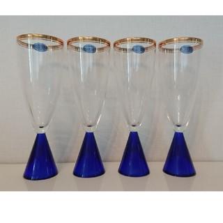 トウヨウササキガラス(東洋佐々木ガラス)のシャンパングラス 4客セット(グラス/カップ)
