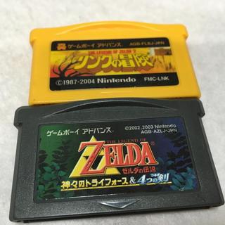 ゲームボーイアドバンス(ゲームボーイアドバンス)のGBA ゼルダの伝説 神々のトライフォース リンクの冒険 セット(携帯用ゲームソフト)