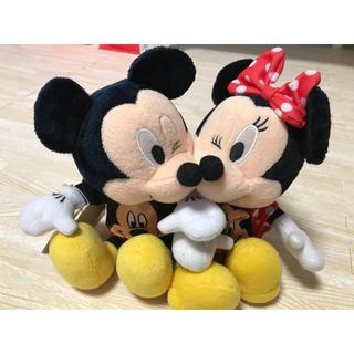 Disney - ミッキー ミニー ぬいぐるみ