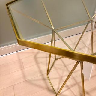 ザラホーム(ZARA HOME)の新品 ZARA HOME ザラホーム オクタゴナル 八角形 ガラステーブル(コーヒーテーブル/サイドテーブル)