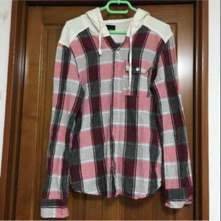 バラク(Barak)のBarak★フード付きチェックシャツ(シャツ/ブラウス(長袖/七分))