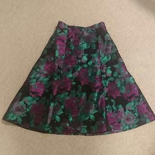 ダニーアンドアン(Danny&Anne)の未使用【ダニー&アン】ジャガード花柄スカート(ひざ丈スカート)