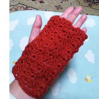 かぎ針編みのハンドウォーマー  ハンドメイド(手袋)