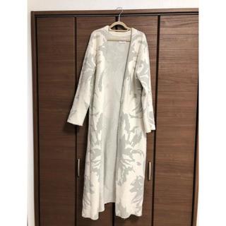 エイミーイストワール(eimy istoire)のeimy istoire jacquard knit gown coat(ガウンコート)