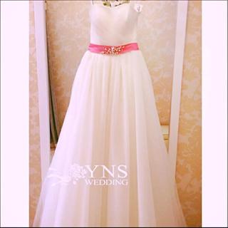 結婚式・サッシュベルト(ウェディングドレス)