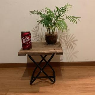 組み立て式X型パイプ脚サイドテーブル(コーヒーテーブル/サイドテーブル)