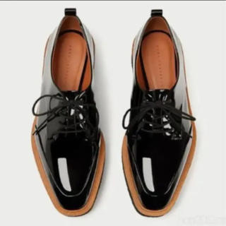 ザラ(ZARA)のZARA プラットフォームシューズ38(ローファー/革靴)
