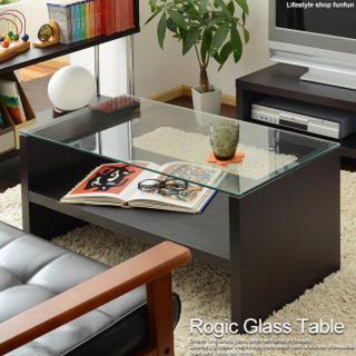 ガラス テーブル リビングテーブル ガラステーブル ローテーブル モダン 木製(コーヒーテーブル/サイドテーブル)