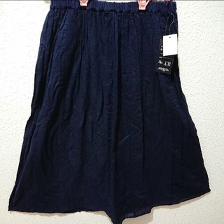 シマムラ(しまむら)の新品 しまむら パッチワーク風 ロング スカート♥️4L アベイル GU(ロングスカート)