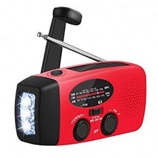 ライト付き 多機能 FM/AMラジオ  SOS 停電 地震などの防災 緊急に対応(防災関連グッズ)