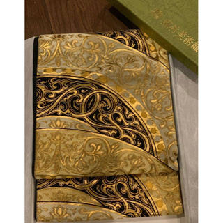 ニシジン(西陣)の龍村美術織物 誰もの憧れ 西陣 龍村の正絹 袋帯 黒 金(帯)