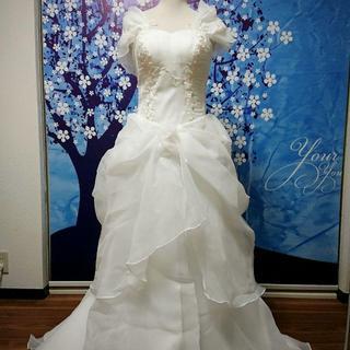 激安 ウェディングドレス ホワイト ロング M 新品(ウェディングドレス)