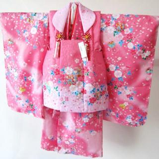 七五三 3歳 着物 桜柄(和服/着物)