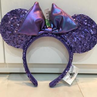 ディズニー(Disney)の香港ディズニー♡パープル♡紫♡スパンコール♡カチューシャ(キャラクターグッズ)