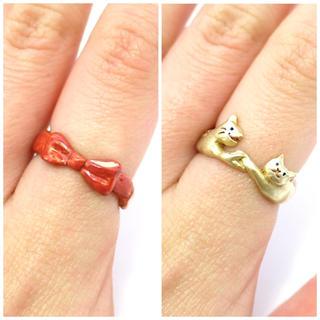 カオリノモリ(カオリノモリ)のパルナートポック 猫 リング(リング(指輪))