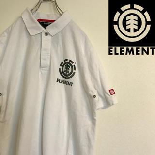 エレメント(ELEMENT)のエレメント ワンポイントロゴ 半袖 ポロシャツ Mサイズ スケーター 系(ポロシャツ)
