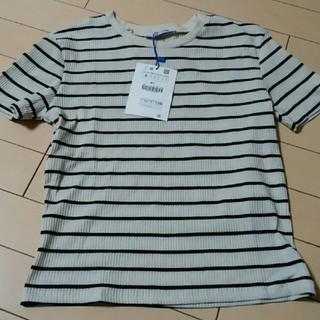 ザラ(ZARA)の新品タグ付ザラティーシャツSサイズ(Tシャツ(半袖/袖なし))