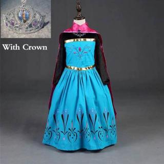 キッズ kids 子供用 子供服 エルサ 戴冠式 アナと雪の女王 ドレス 衣装(衣装一式)