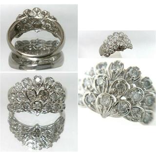 ジュエリーツツミ(JEWELRY TSUTSUMI)のお値下げ‼️フェザーモチーフ  1カラットダイヤモンドリング(リング(指輪))