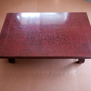和 レトロ 座卓 ローテーブル 無垢材 艶々(ローテーブル)