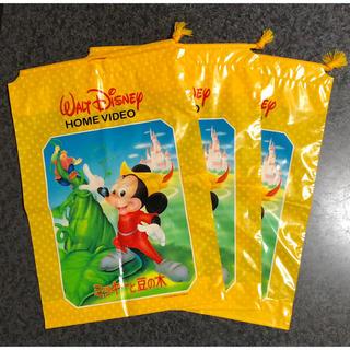 ディズニー(Disney)のミッキーと豆の木 ビニール袋 3枚セット  (ラッピング/包装)