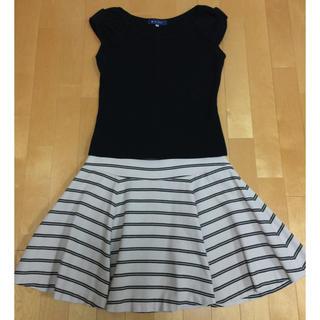 クチュールブローチ(Couture Brooch)のクチュールブローチ♡ボーダー柄スカート(ひざ丈スカート)
