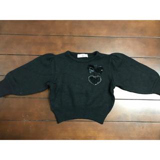 ハナエモリ(HANAE MORI)のHANAE MORI ハナエモリ 黒セーター 110センチ 女の子(ニット)