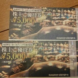 セガ(SEGA)のフェニックス宮崎シーガイア 株主優待券(遊園地/テーマパーク)