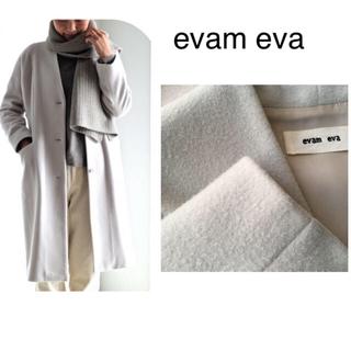 エヴァムエヴァ(evam eva)の【専用ページ】evam eva WOOL VELOR LONG COAT 完売(ロングコート)