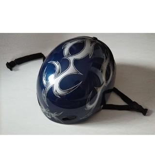スノーボード スノボ ヘルメット 青 ファイヤーパターン メタリック  TPC(ウエア/装備)