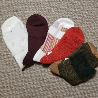 クツシタヤ(靴下屋)のカジュアル系靴下5枚セット★★(ソックス)