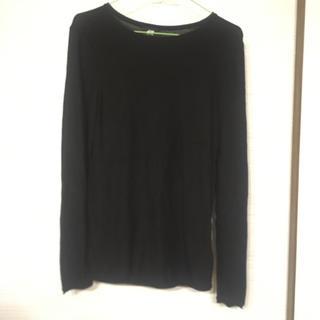 エイチアンドエム(H&M)のH&M 薄手ニットシャツ  サイズXS ブラック(シャツ)