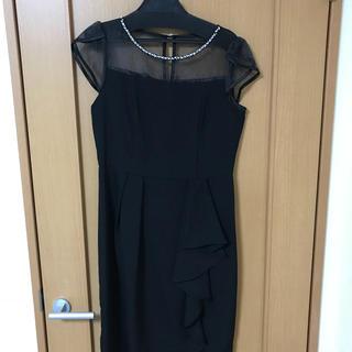 ガール(GIRL)の①結婚式用ドレス 黒(ミディアムドレス)