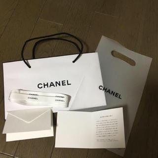 シャネル(CHANEL)のおまけ付新品自宅保管短シャネルショッパーリボンメッセージ付セット(ショップ袋)