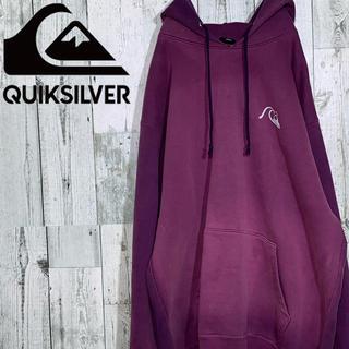 クイックシルバー(QUIKSILVER)のクイックシルバー  ロゴ バックプリント パーカー(パーカー)