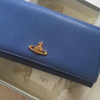 ヴィヴィアンウエストウッド(Vivienne Westwood)のヴィヴィアン 長財布 二つ折り ブルー(財布)