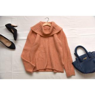 クチュールブローチ(Couture Brooch)の●クチュールブローチ ふわふわオフタートルニット ㈱ワールド●(ニット/セーター)