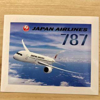 ジャル(ニホンコウクウ)(JAL(日本航空))のレア‼️【JAL♪】切手デザインステッカー♪B787♪(航空機)