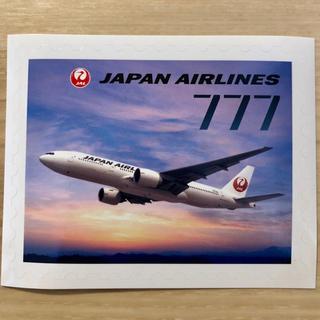 ジャル(ニホンコウクウ)(JAL(日本航空))のレア‼️【JAL♪】切手デザインステッカー♪B777♪(航空機)