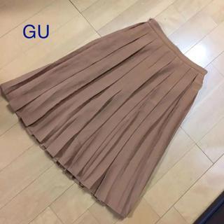 ジーユー(GU)のGU 膝丈プリーツスカートM  ジーユー(ひざ丈スカート)
