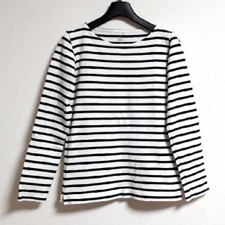 MUJI (無印良品) - 無印良品 オーガニックコットン太番手ボーダー長袖Tシャツ カットソー