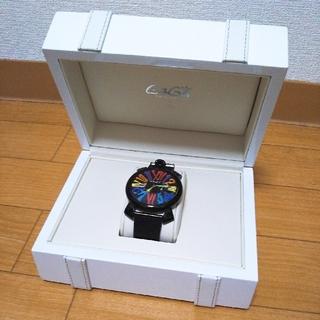 ガガミラノ(GaGa MILANO)のGaGa MILANO 美品 黒 スリム 腕時計♡(腕時計(アナログ))