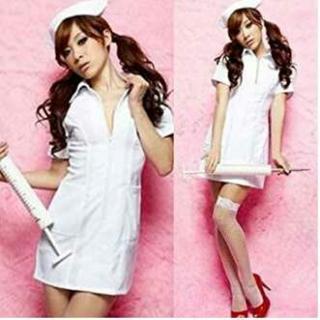 ★人気です★ 看護婦 ナース 衣装セット コスチューム レディース フリーサイズ(衣装一式)