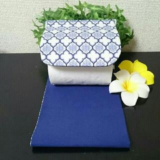 モロッカン柄トイレットペーパー【ブルー】(ファブリック)