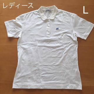 ヨネックス(YONEX)のヨネックス ゲーム シャツ L 白 ホワイト レディース テニス バドミントン(ウェア)