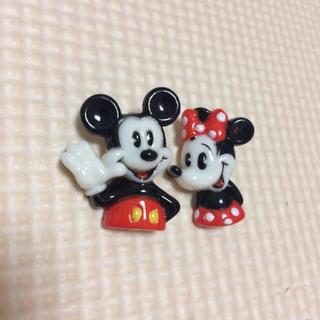 ディズニー(Disney)のミッキー  ミニー ヴィンテージボタン(各種パーツ)