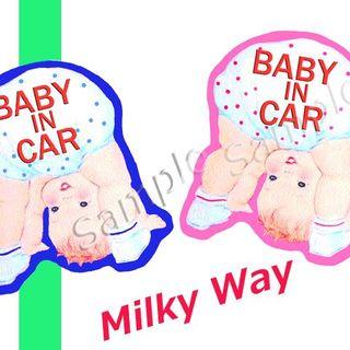 BABY IN CAR カーステッカー マグネット(ベビーカー用アクセサリー)