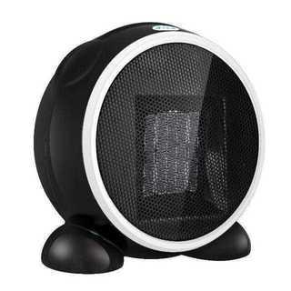 セラミックヒーター 500W 丸形 小型暖房器 速暖 温風(サーキュレーター)