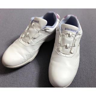 キスマーク(kissmark)のkissmark 美品ゴルフシューズレディース23cm靴スパイク(シューズ)