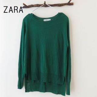 ザラ(ZARA)のZARA KNIT ザラ ニット セーター ラグラン 緑(ニット/セーター)